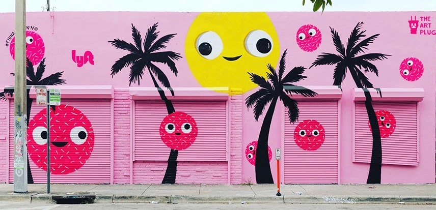 Lyft Mural – Miami Art Week 2018