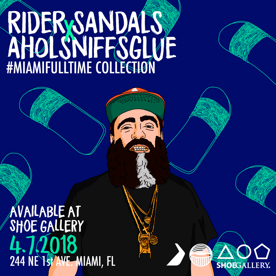 Ahol Sniffs Glue X Rider Sandals #MiamiFullTime Collection