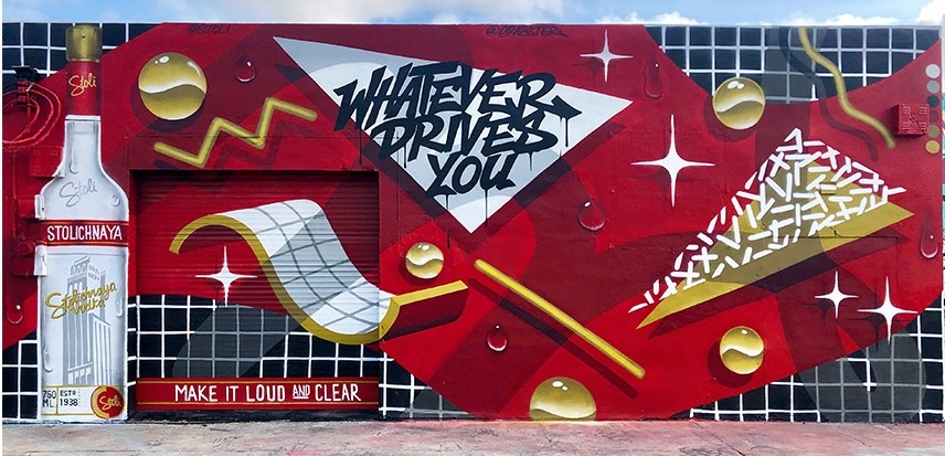 "Grabster – Stoli ""Loud & Clear"" Mural (Miami)"