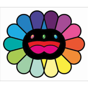 Multicolor Double Face: Black, by Takashi Murakami