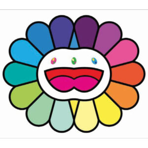 Multicolor Double Face: White, by Takashi Murakami
