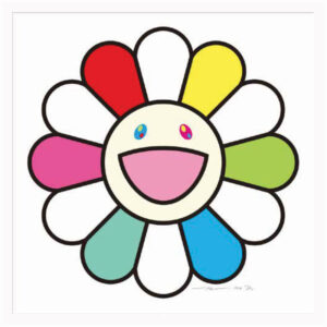 Smiley days with Ms. Flower to you, by Takashi Murakami