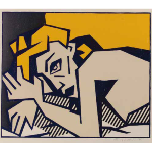 RECLINING NUDE, by Roy Lichtenstein