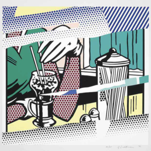 REFLECTIONS ON SODA FOUNTAIN, by Roy Lichtenstein