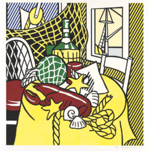 STILL LIFE WITH LOBSTER, by Roy Lichtenstein